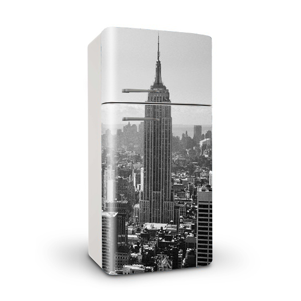 Vinilo para frigorifico Empire State New York Black&White